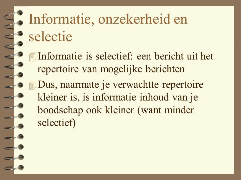 Informatie, onzekerheid en selectie