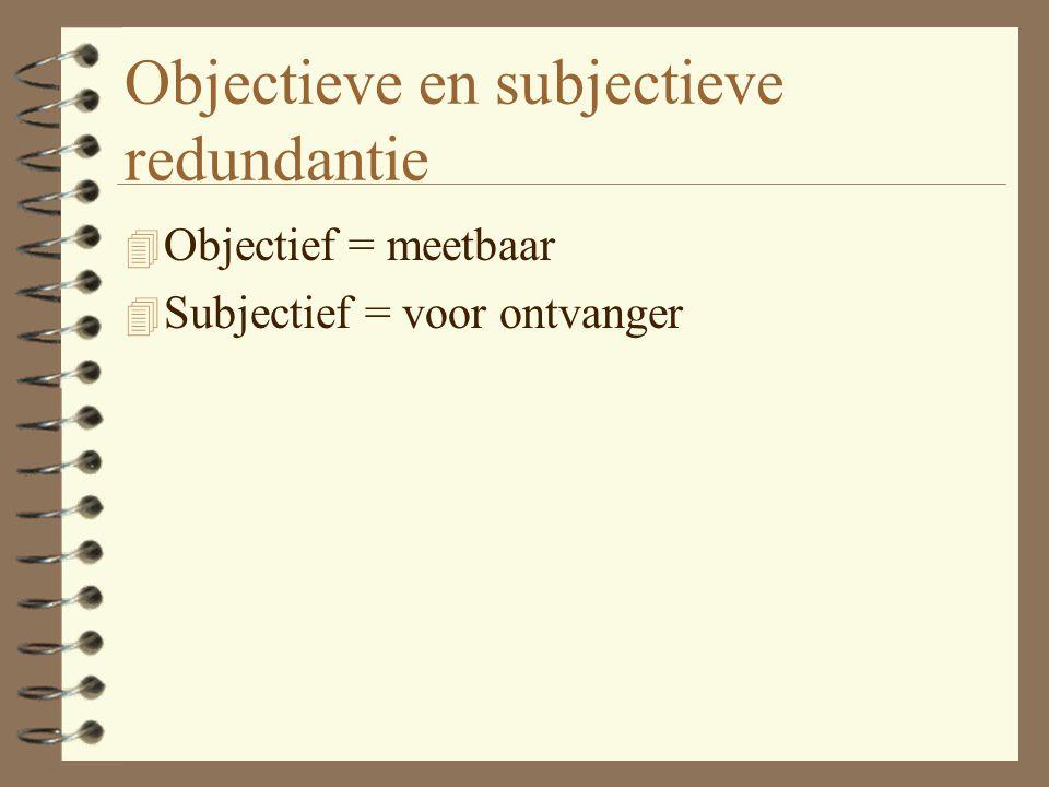 Objectieve en subjectieve redundantie