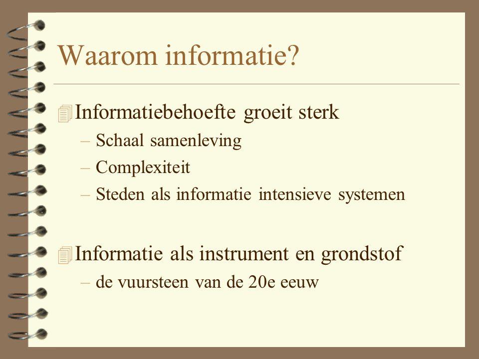 Waarom informatie Informatiebehoefte groeit sterk