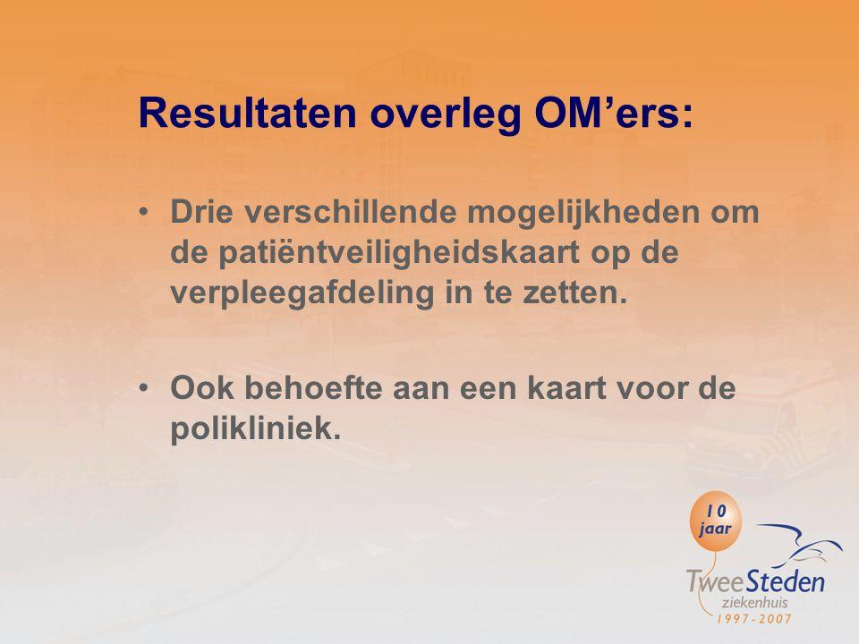 Resultaten overleg OM'ers: