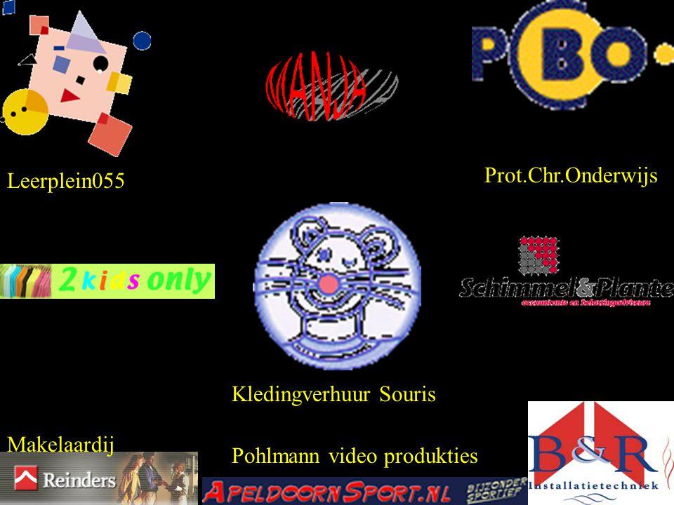 Prot.Chr.Onderwijs Leerplein055 Kledingverhuur Souris Makelaardij Pohlmann video produkties
