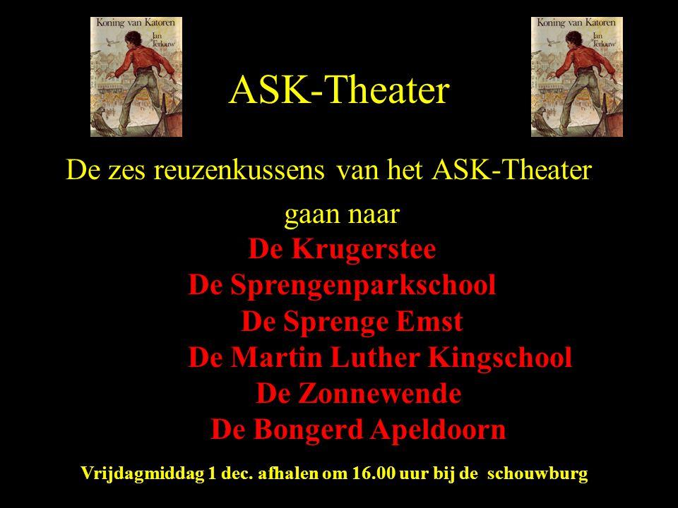ASK-Theater De zes reuzenkussens van het ASK-Theater gaan naar