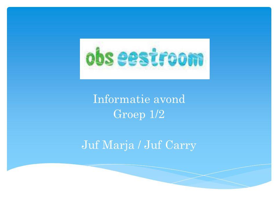 Informatie avond Groep 1/2 Juf Marja / Juf Carry