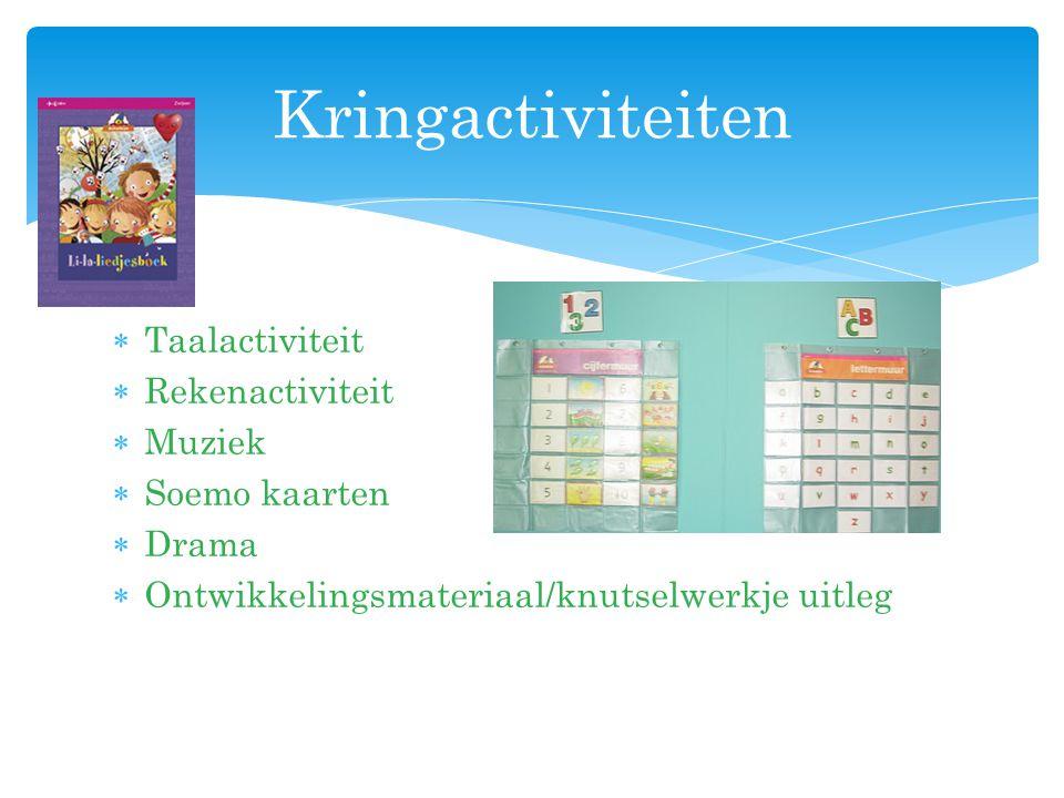 Kringactiviteiten Taalactiviteit Rekenactiviteit Muziek Soemo kaarten