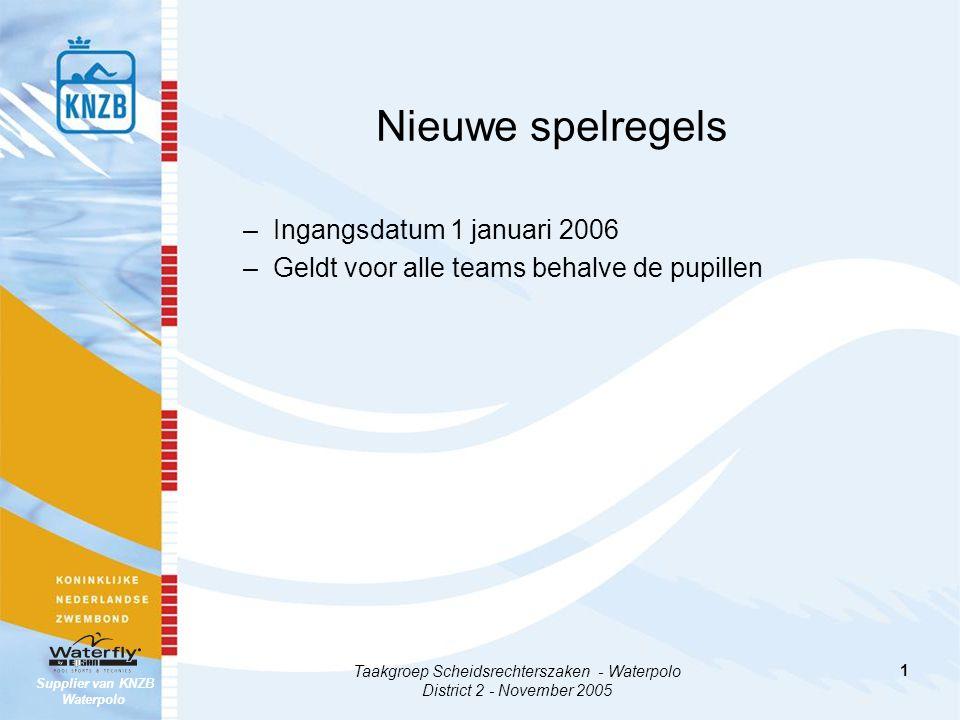 Taakgroep Scheidsrechterszaken - Waterpolo District 2 - November 2005