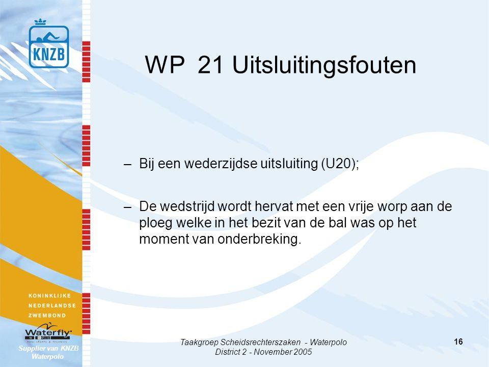 WP 21 Uitsluitingsfouten
