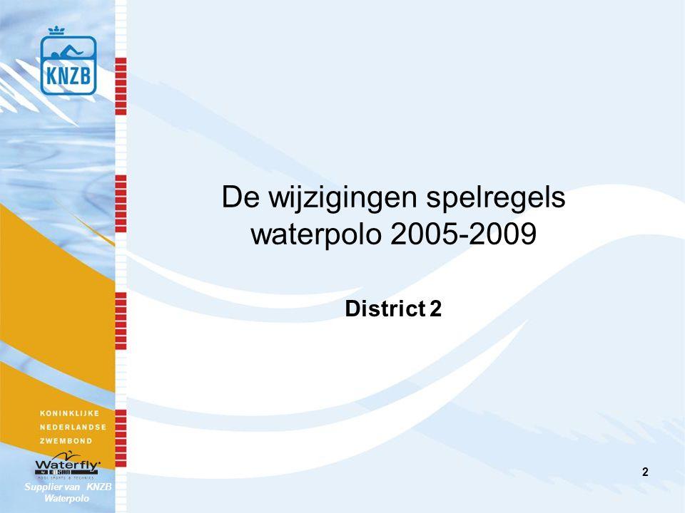De wijzigingen spelregels waterpolo 2005-2009