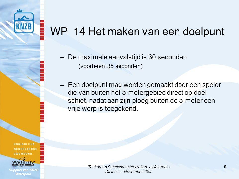 WP 14 Het maken van een doelpunt