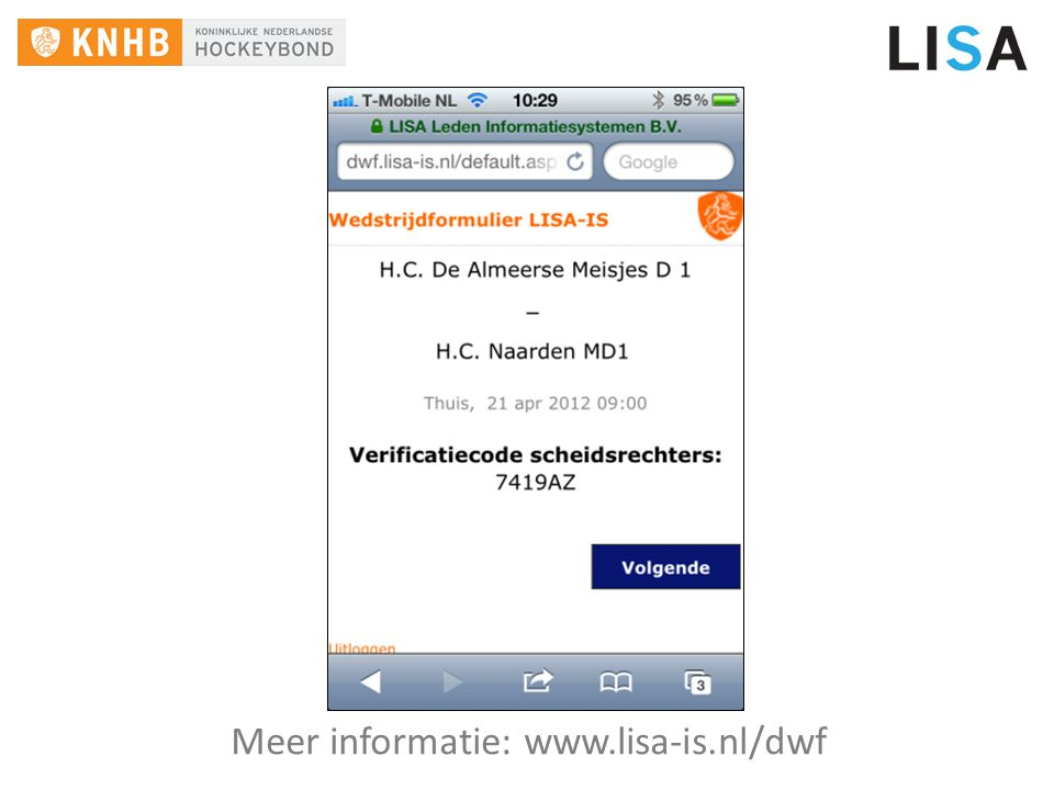 Meer informatie: www.lisa-is.nl/dwf