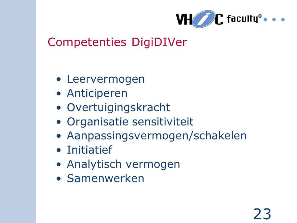 Competenties DigiDIVer