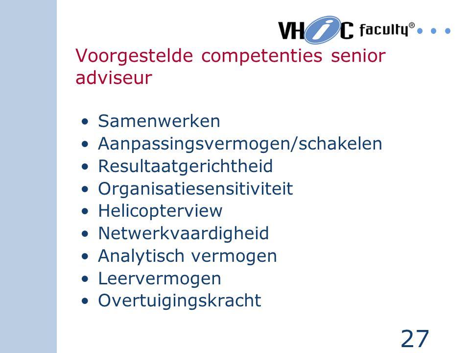 Voorgestelde competenties senior adviseur