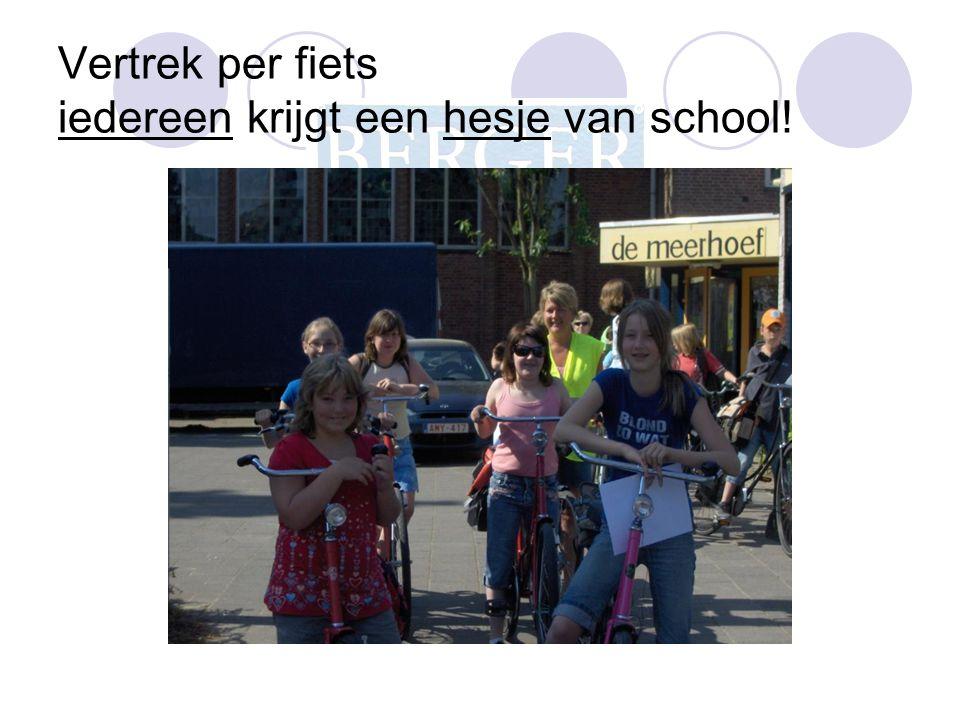 Vertrek per fiets iedereen krijgt een hesje van school!