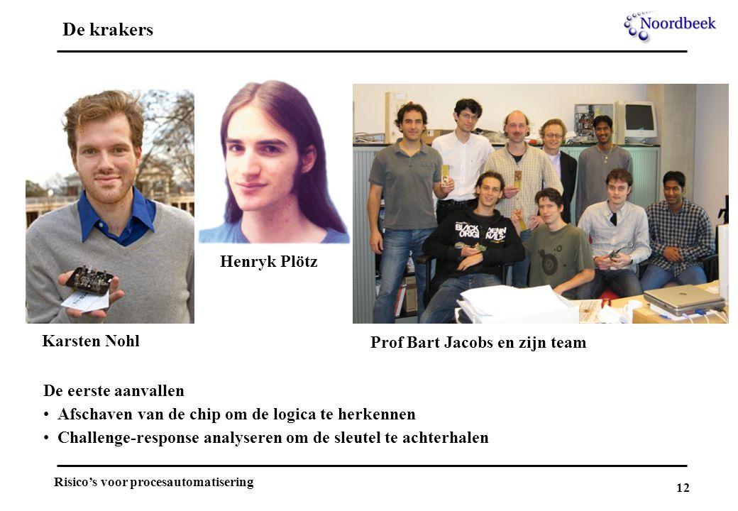 De krakers Henryk Plötz Karsten Nohl Prof Bart Jacobs en zijn team