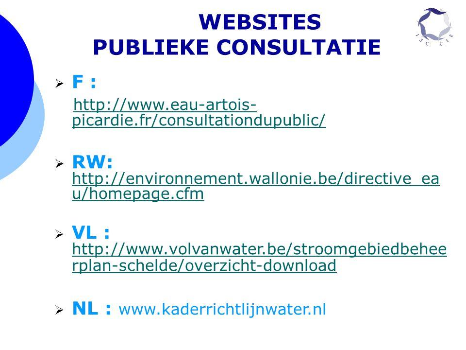 WEBSITES PUBLIEKE CONSULTATIE
