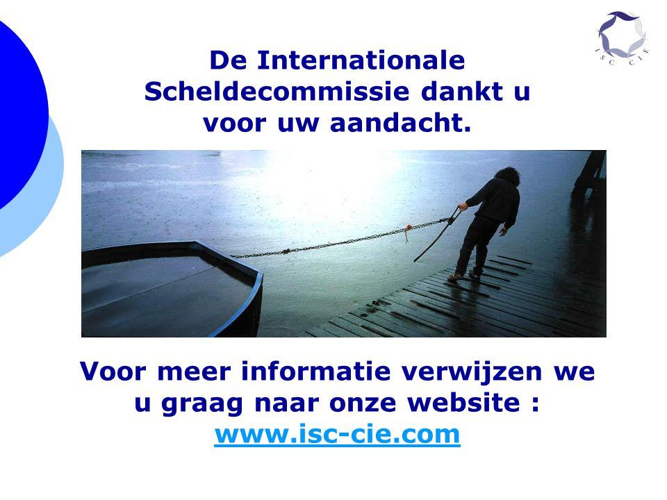 De Internationale Scheldecommissie dankt u voor uw aandacht.