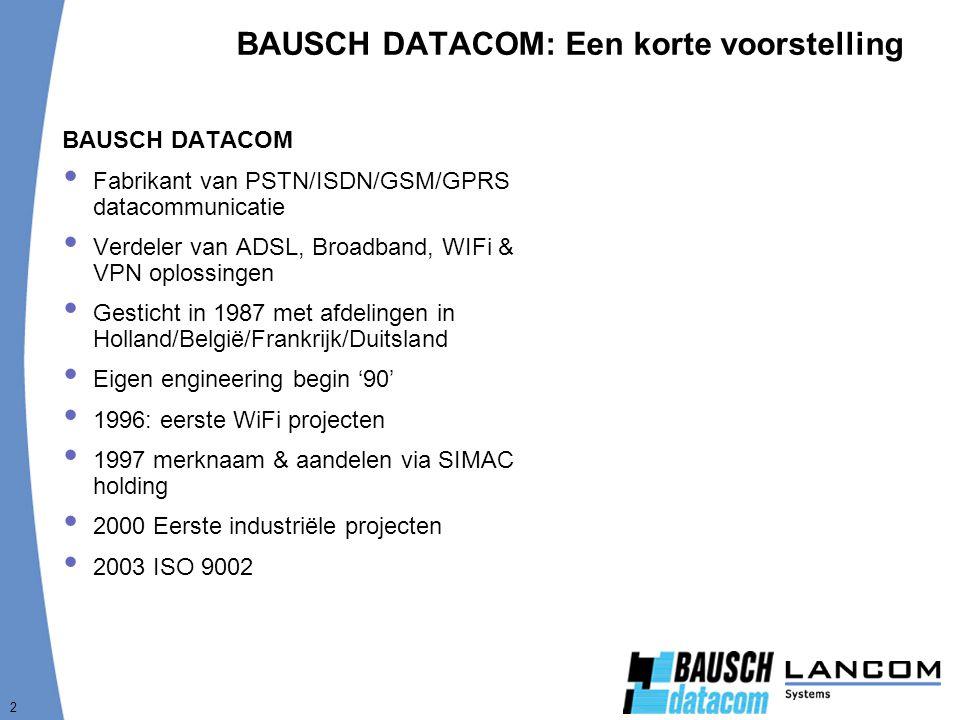 BAUSCH DATACOM: Een korte voorstelling