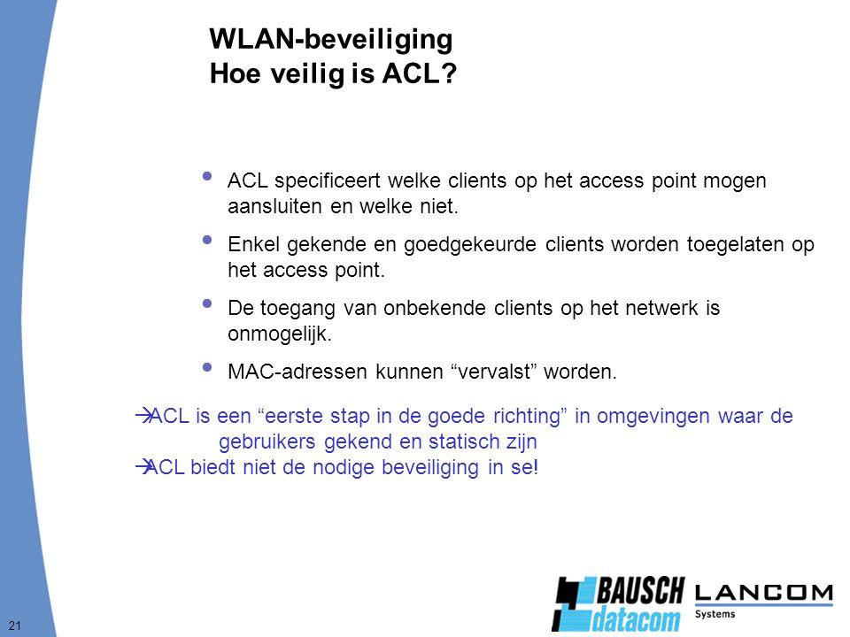 WLAN-beveiliging Hoe veilig is ACL
