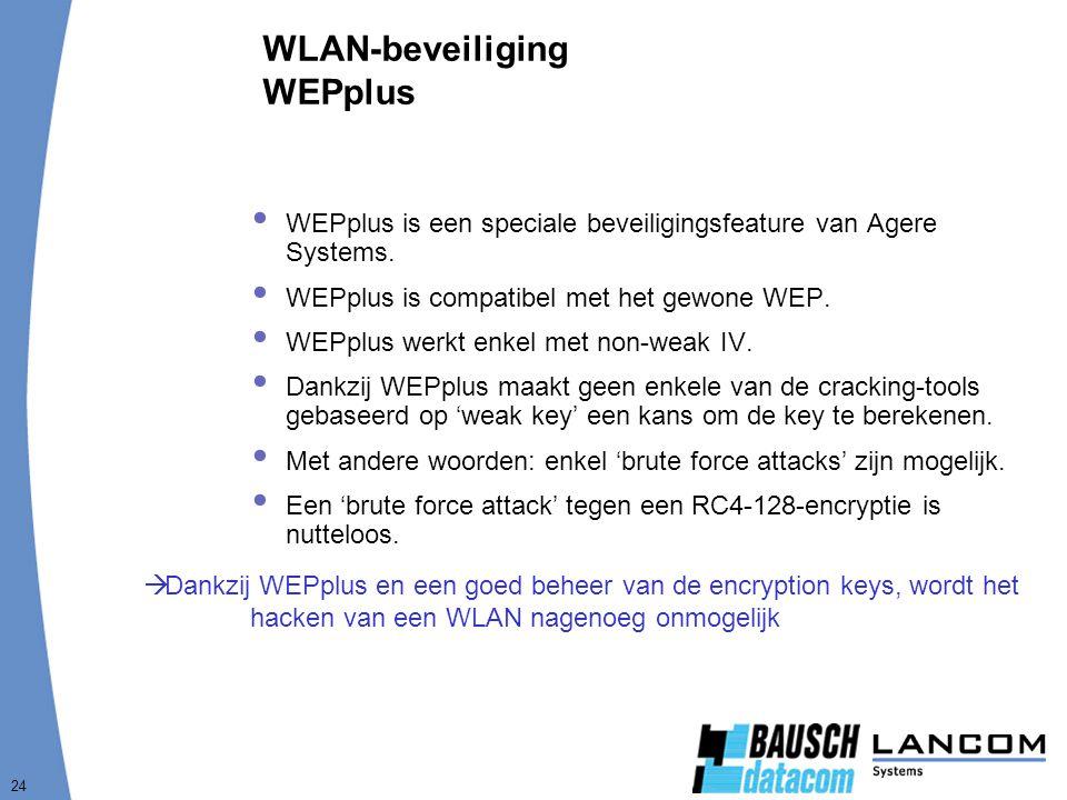 WLAN-beveiliging WEPplus