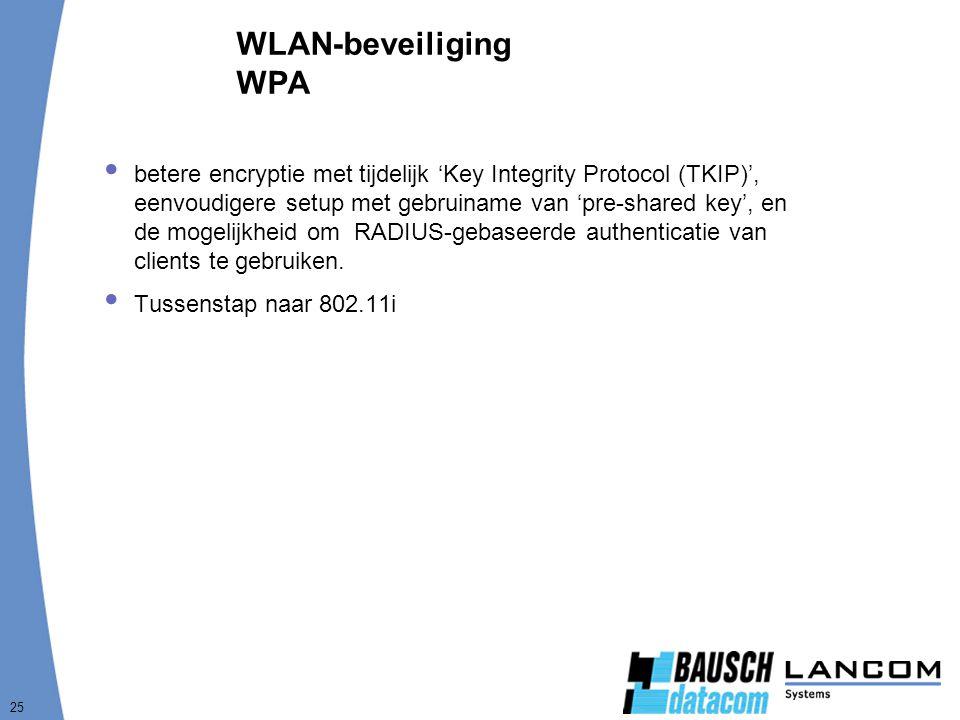 WLAN-beveiliging WPA