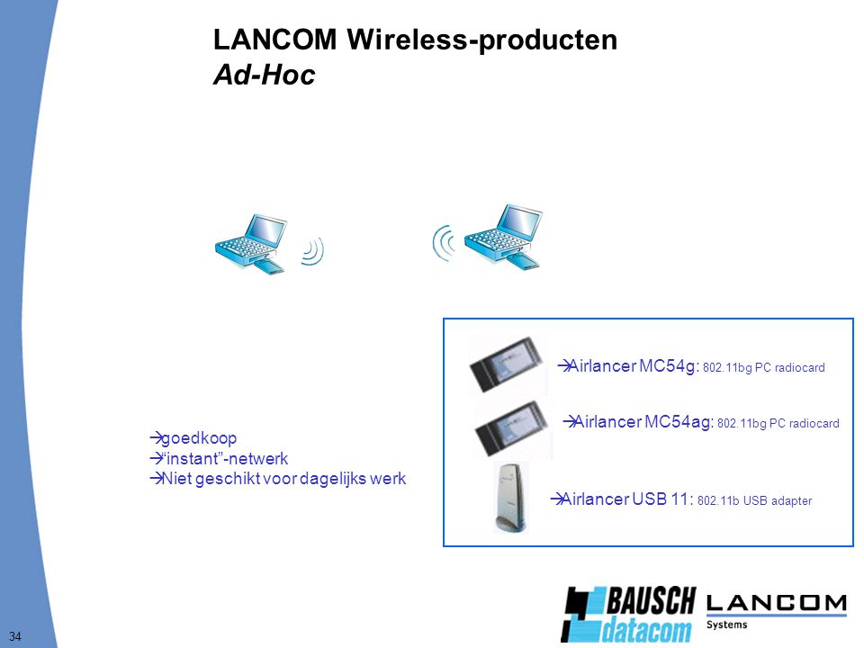LANCOM Wireless-producten Ad-Hoc