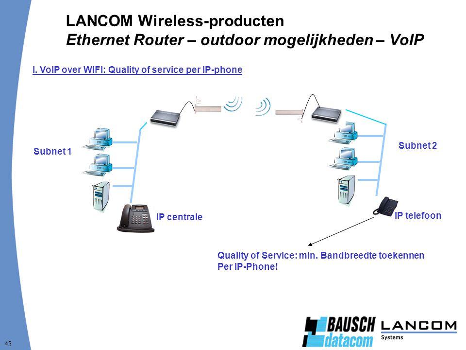 LANCOM Wireless-producten Ethernet Router – outdoor mogelijkheden – VoIP