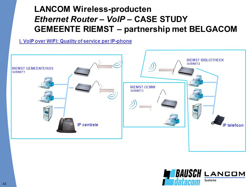 LANCOM Wireless-producten Ethernet Router – VoIP – CASE STUDY GEMEENTE RIEMST – partnership met BELGACOM