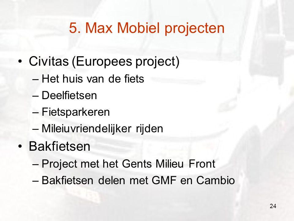 5. Max Mobiel projecten Civitas (Europees project) Bakfietsen