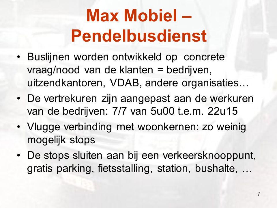 Max Mobiel – Pendelbusdienst