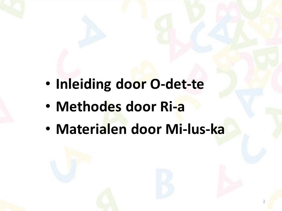Open- en gesloten lettergrepen