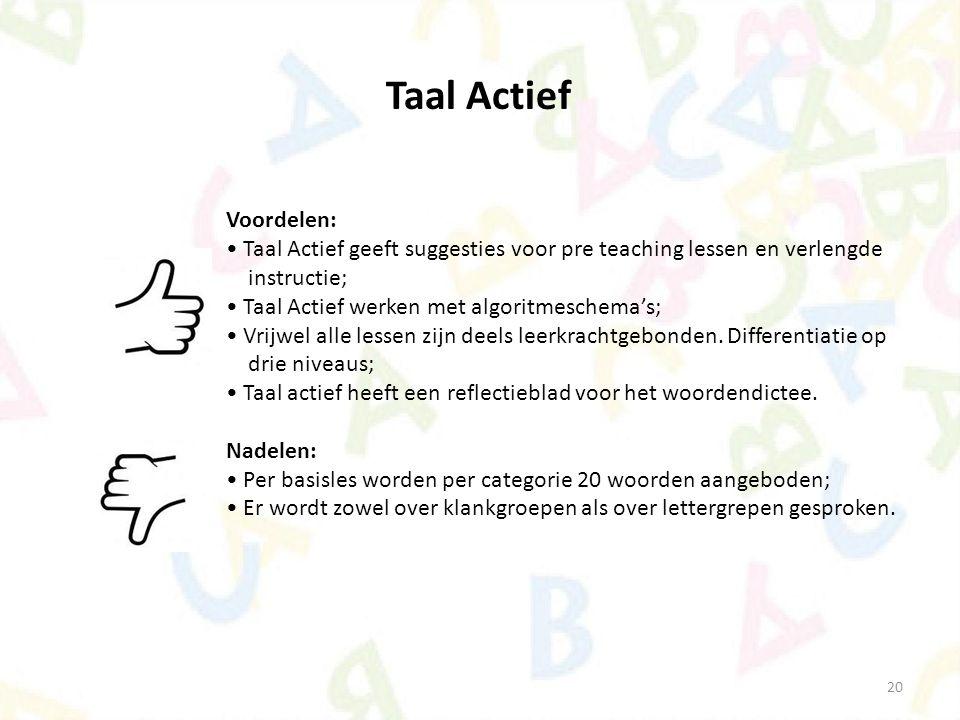 Taal Actief Voordelen: