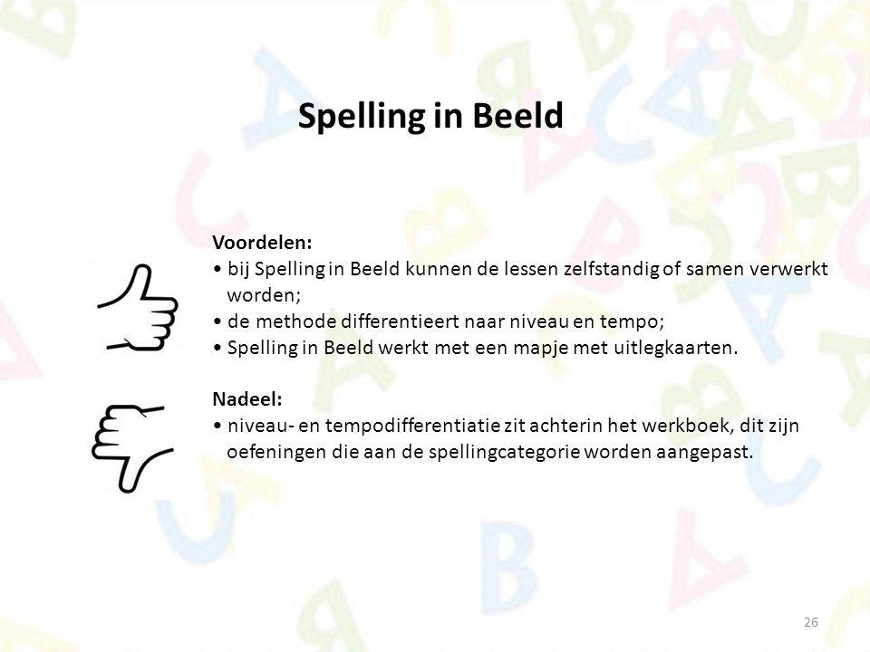Spelling in Beeld Voordelen: