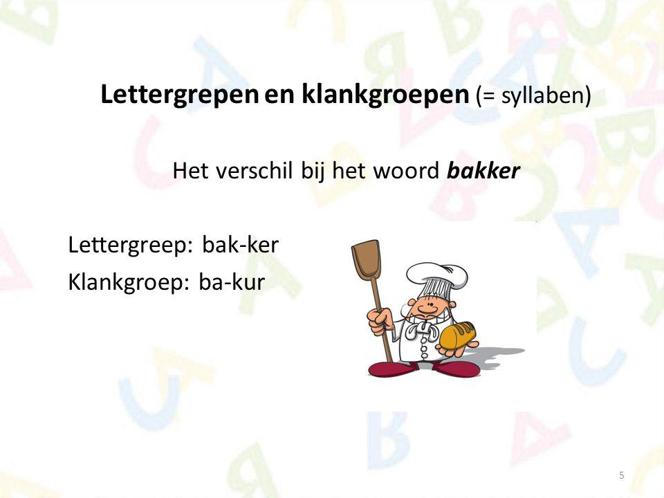 Lettergrepen en klankgroepen (= syllaben)