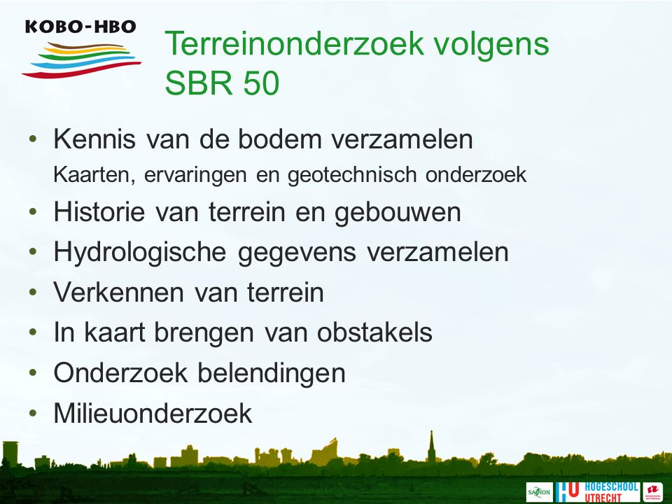 Terreinonderzoek volgens SBR 50