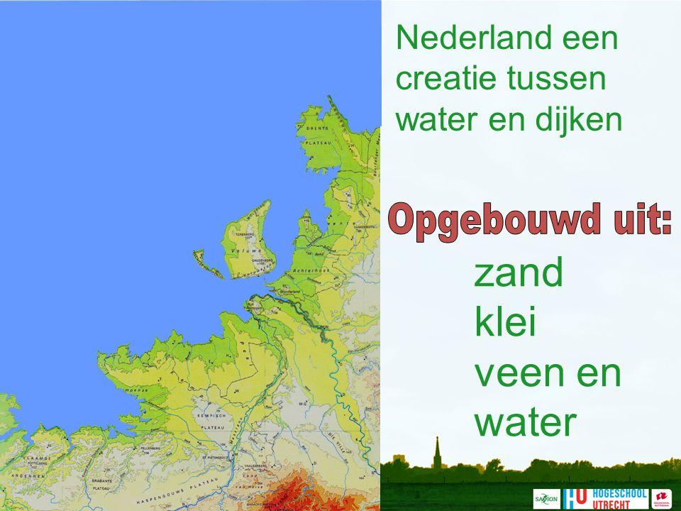 Nederland een creatie tussen water en dijken