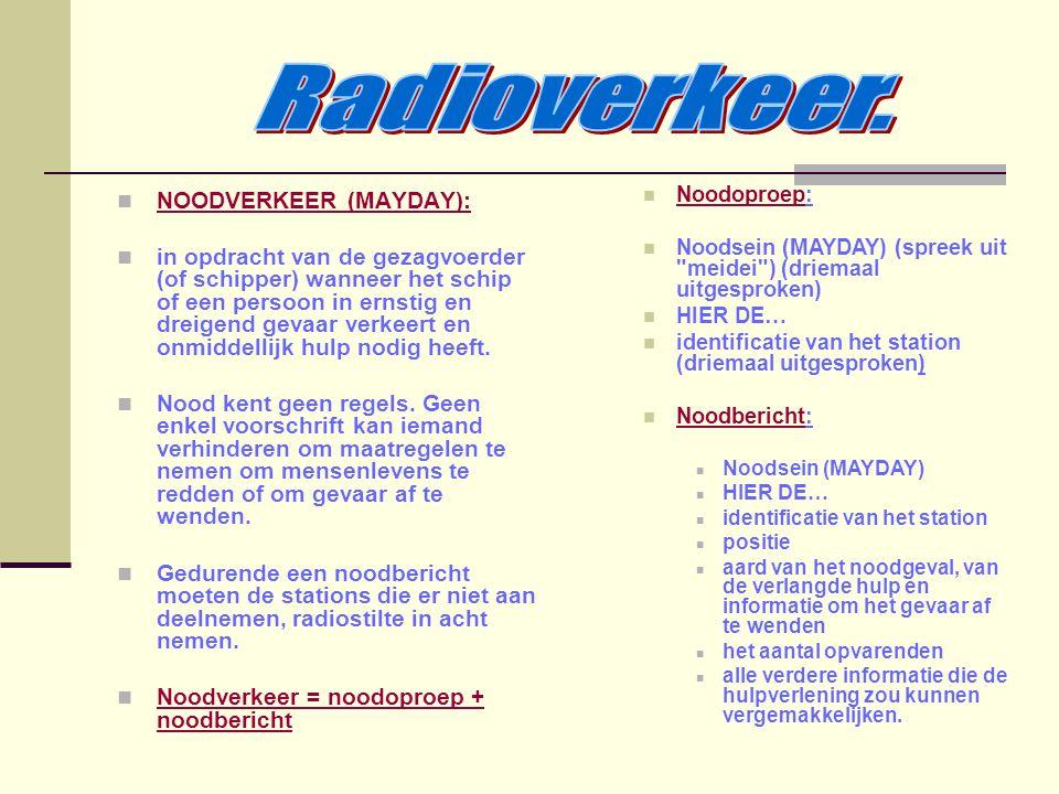 Radioverkeer. NOODVERKEER (MAYDAY):