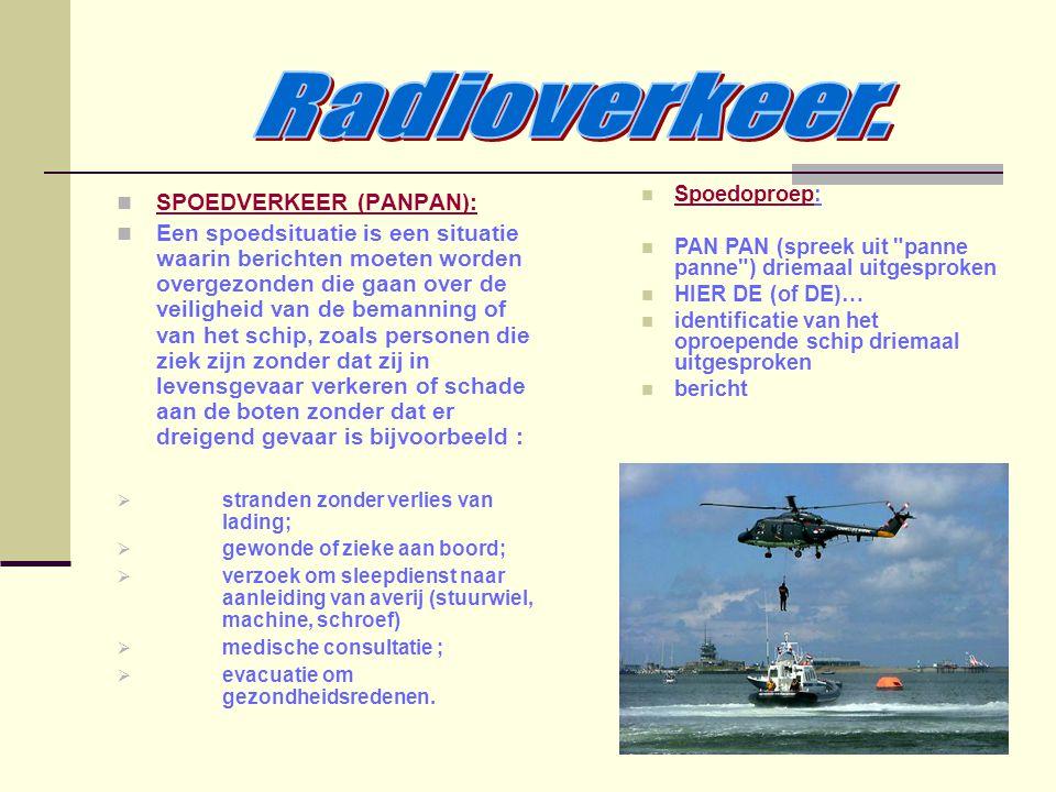 Radioverkeer. SPOEDVERKEER (PANPAN):