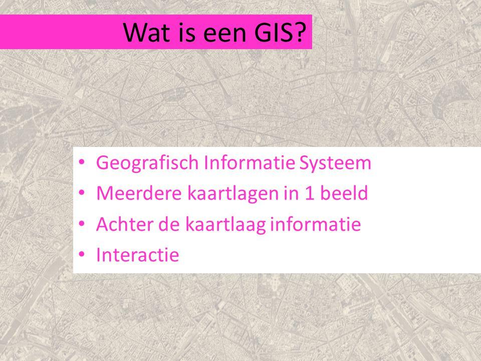 Wat is een GIS Geografisch Informatie Systeem
