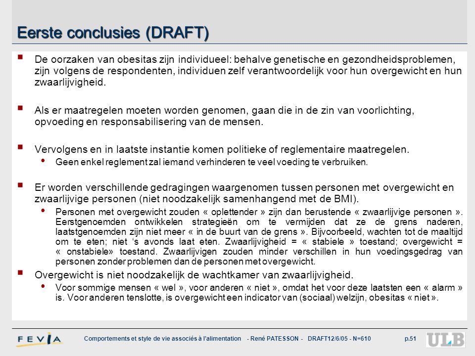 Eerste conclusies (DRAFT)