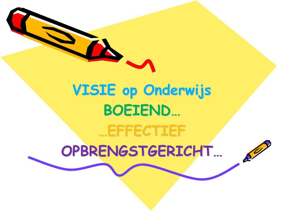 VISIE op Onderwijs BOEIEND… …EFFECTIEF OPBRENGSTGERICHT…