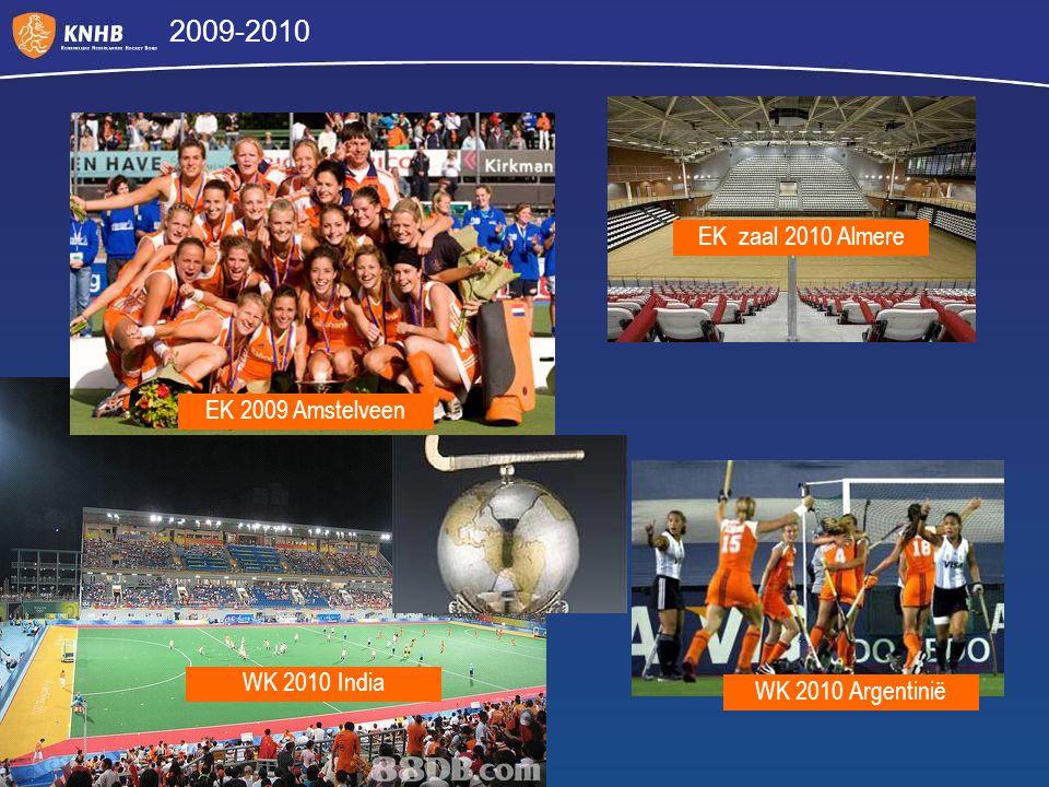 2009-2010 EK zaal 2010 Almere EK 2009 Amstelveen WK 2010 India