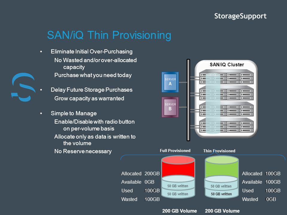 SAN/iQ Thin Provisioning