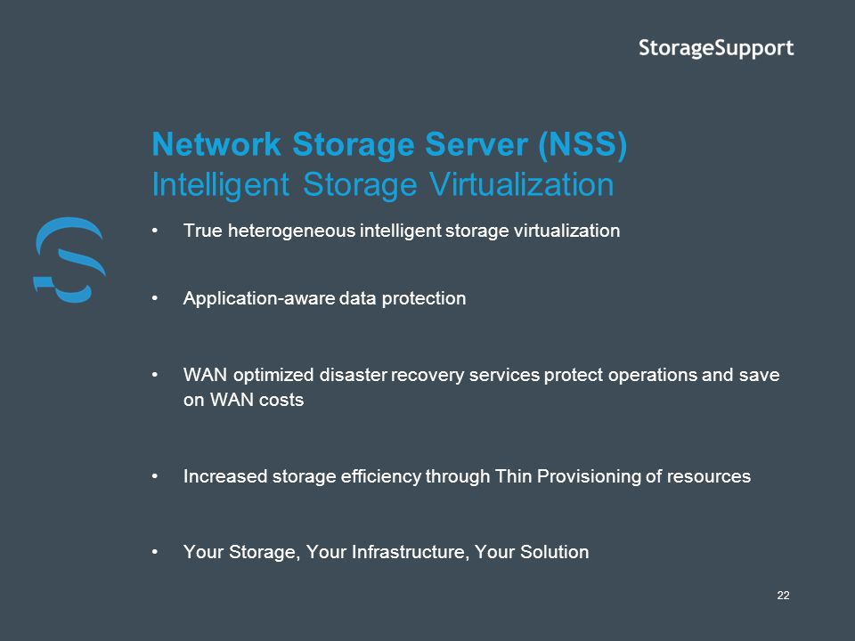 Network Storage Server (NSS) Intelligent Storage Virtualization