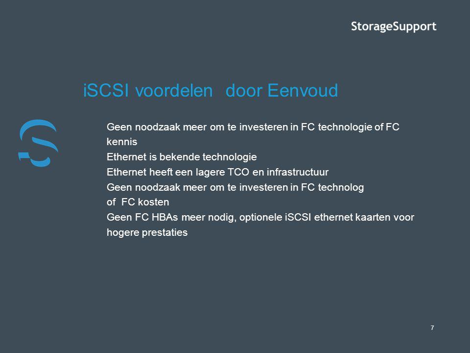 iSCSI voordelen door Eenvoud
