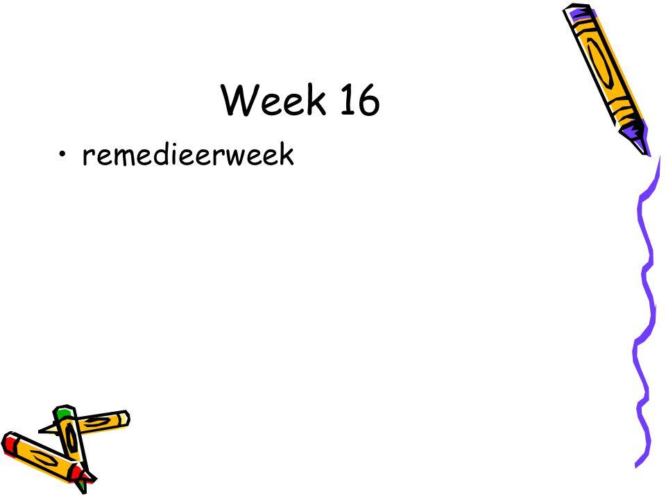 Week 16 remedieerweek