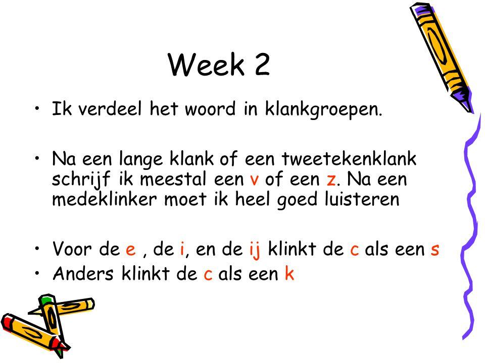 Week 2 Ik verdeel het woord in klankgroepen.