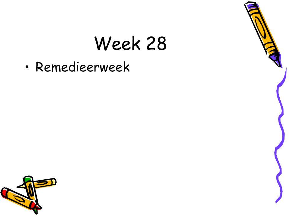 Week 28 Remedieerweek