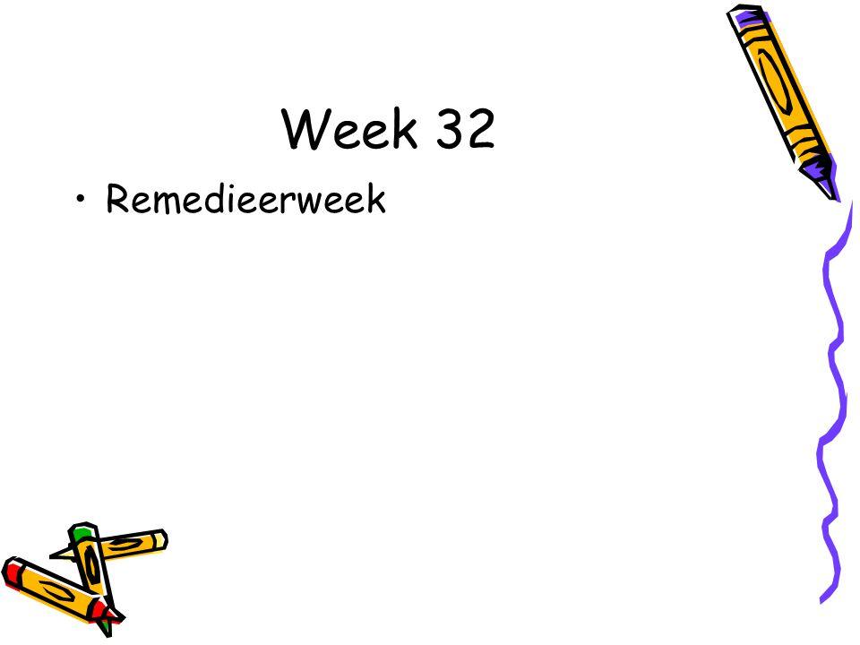 Week 32 Remedieerweek