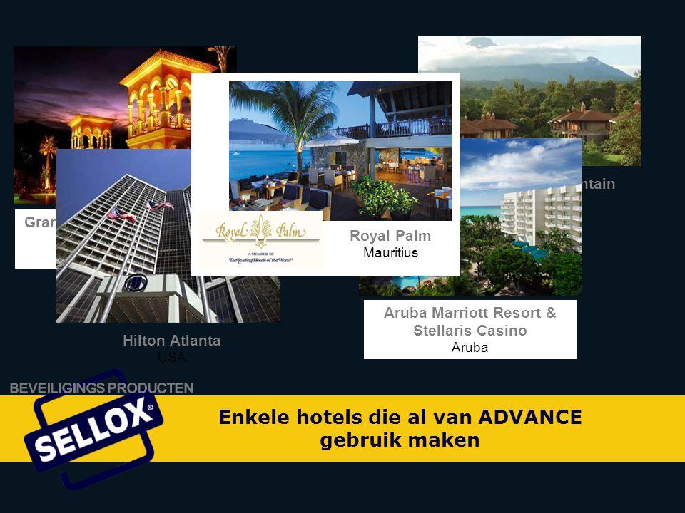 Enkele hotels die al van ADVANCE gebruik maken