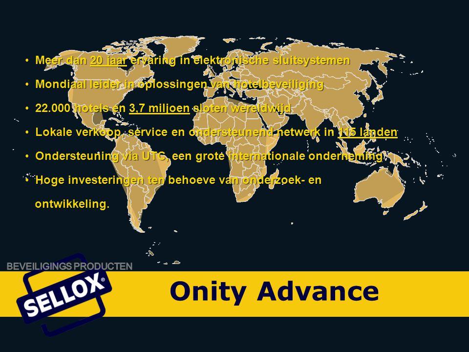 Onity Advance Meer dan 20 jaar ervaring in elektronische sluitsystemen