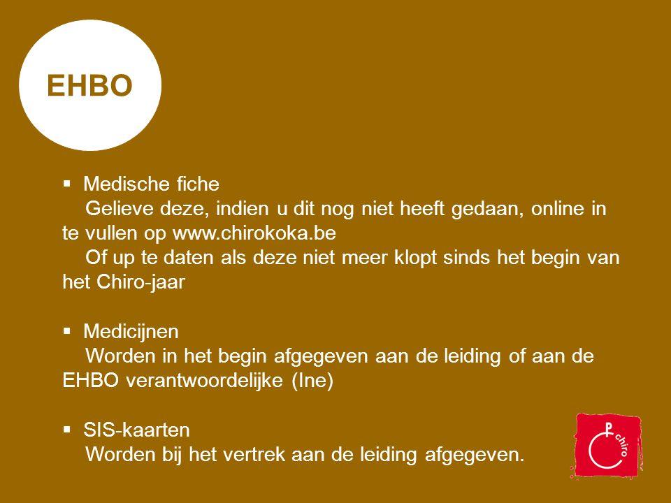 EHBO Medische fiche.